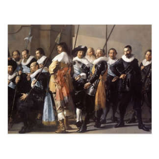 Frans Hals- Meagre Company Tarjeta Postal