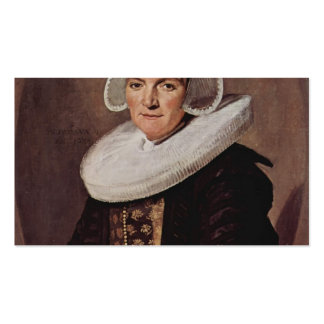 Frans Hals- Portrait of a forty year old woman Double-Sided Standard Business Cards (Pack Of 100)