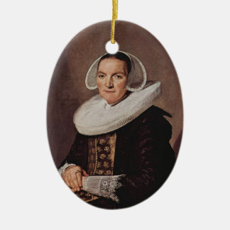 Frans Hals- Portrait of a forty year old woman Christmas Tree Ornaments