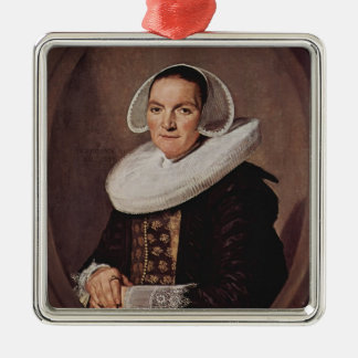 Frans Hals- Portrait of a forty year old woman Christmas Tree Ornament