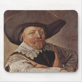 Frans Hals- Portrait of a seated officer Mouse Pads