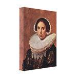 Frans Hals - Portrait of a woman Canvas Print