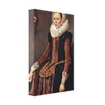 Frans Hals - Portrait of an unknown woman Gallery Wrap Canvas