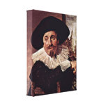Frans Hals - Portrait of Isaak Abrahamsz Massa Gallery Wrapped Canvas