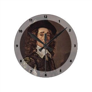 Frans Hals- Portrait of Jasper Schade van Westrum Round Wall Clocks
