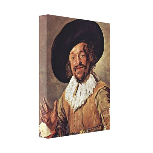 Frans Hals - The merry drinker Gallery Wrap Canvas