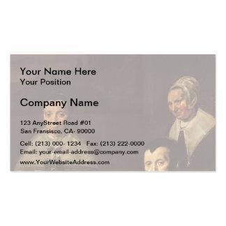 Frans Hals- The Regentesses of Old Men s Almhouse Business Card Templates