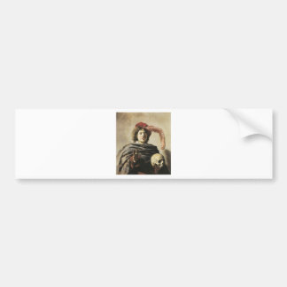 Frans Hals Young Man With Skull Bumper Stickers