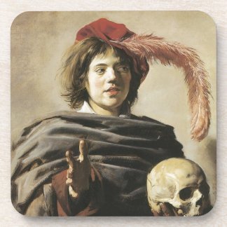 Frans Hals Young Man With Skull Drink Coaster