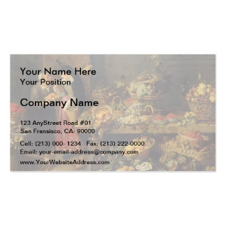 Frans Snyders- A Fruit Stall Business Card Templates