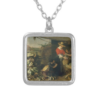 Frans Snyders- A Fruit Stall Personalized Necklace