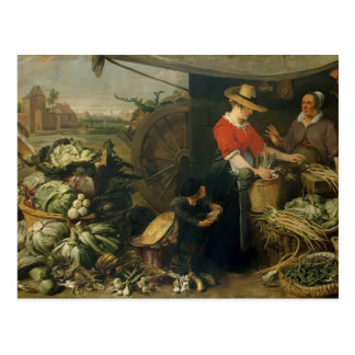 Frans Snyders- A Fruit Stall Postcard