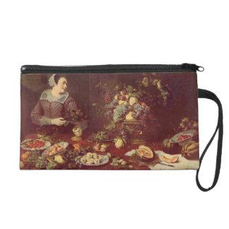 Frans Snyders- Fruit seller Wristlet Purse