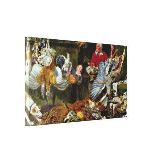 Frans Snyders - game dealers Canvas Print