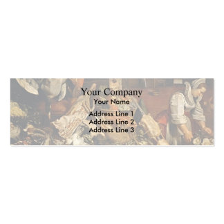 Frans Snyders- Kitchen Still Life Business Card Templates