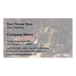 Frans Snyders- Still Life,Crab, Poultry, Fruit Business Card Template