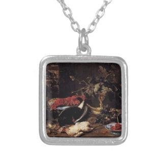 Frans Snyders- Still Life Crab Poultry Fruit Pendants