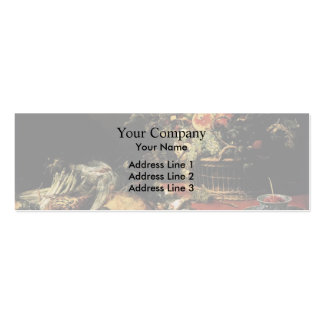 Frans Snyders- Still Life with Fruit Basket,Game Business Card Template