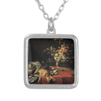 Frans Snyders- Still Life with Fruit Basket Game Custom Jewelry