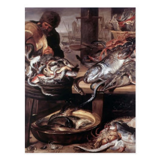 Frans Snyders- The Fishmonger Postcard