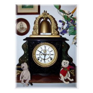 Franscious and Lennart Old Clock Postcard