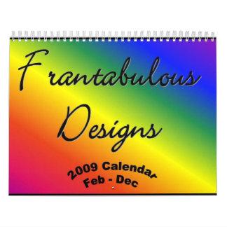 Frantabulous Designs 2009 Calendar