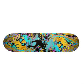 frantic neon skateboard deck