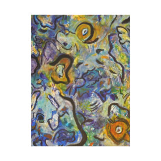 Frantic Rooster Funky Acrylic Abstract Canvas Prints