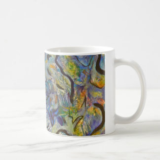 Frantic Rooster Funky Acrylic Abstract Coffee Mug