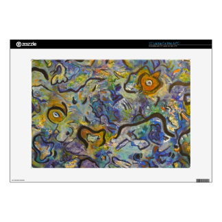 Frantic Rooster Funky Acrylic Abstract Laptop Skin