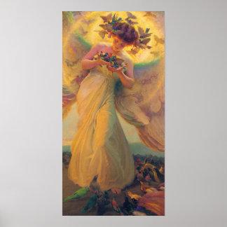 Franz Dvorak Angel of Birds CC0431 Poster
