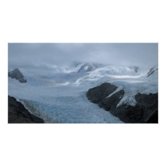 Franz Josef Glacier from the air Poster