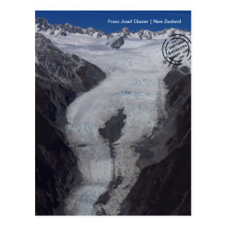 Franz Josef glacier (New Zealand) postcard