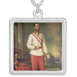 Franz Joseph I, Emperor of Austria Square Pendant Necklace