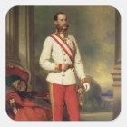 Franz Joseph I, Emperor of Austria Square Sticker
