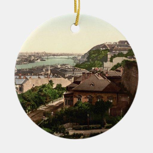 Franz Josephs Bridge, Budapest, Hungary Christmas Ornament
