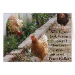 Franz Kafka animal welfare quotation Greeting Card