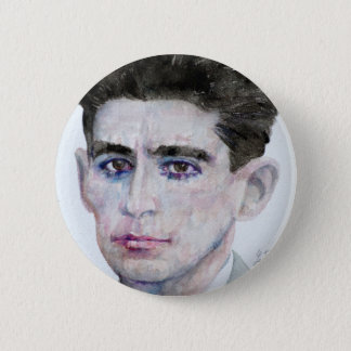 FRANZ KAFKA - watercolor portrait.1 Button