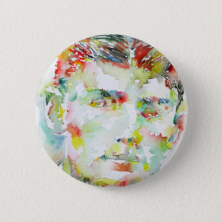FRANZ KAFKA - watercolor portrait.2 Button