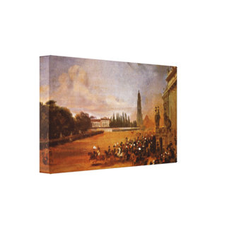Franz Kruger - Parade in Potsdam (study) Stretched Canvas Prints
