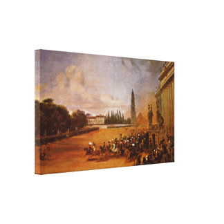 Franz Kruger - Parade in Potsdam (study) Gallery Wrap Canvas
