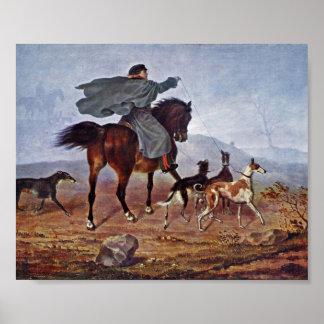 Franz Kruger - ride to the hunt Poster