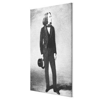 Franz Liszt (1811-86) 1856 (litho) (b/w photo) Canvas Print