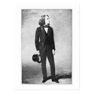 Franz Liszt (1811-86) 1856 (litho) (b/w photo) Postcard