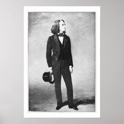 Franz Liszt (1811-86) 1856 (litho) (foto de b/w) Impresiones
