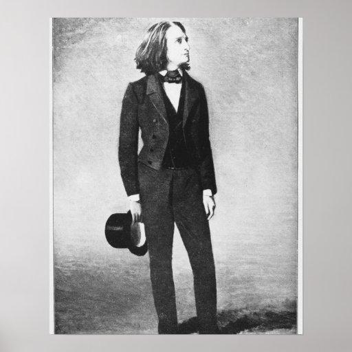 Franz Liszt (1811-86) 1856 (litho) (foto de b/w) Póster