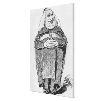 Franz Liszt (1811-86) as abbot, caricature from 'B Canvas Prints