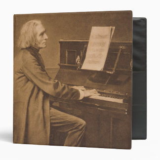 Franz Liszt  at the Piano Binder