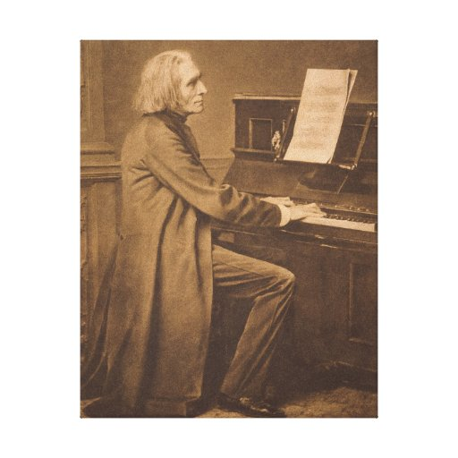 Franz Liszt  at the Piano Canvas Print