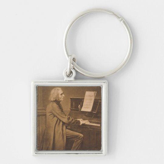 Franz Liszt  at the Piano Keychain